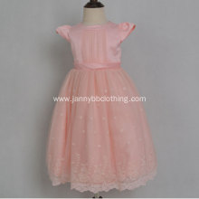 fancy princess dress pink party dress for kids
